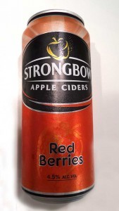 Strongbow red berry cider